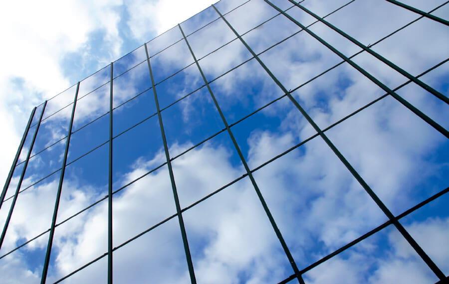 Fenster-Gebäude