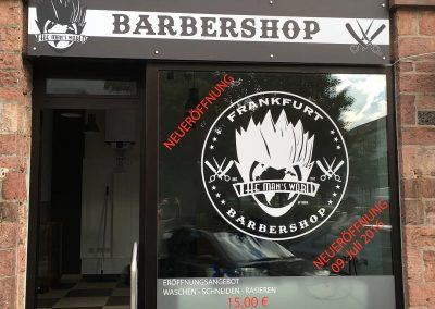 barbershop-schaufensterbeklebung
