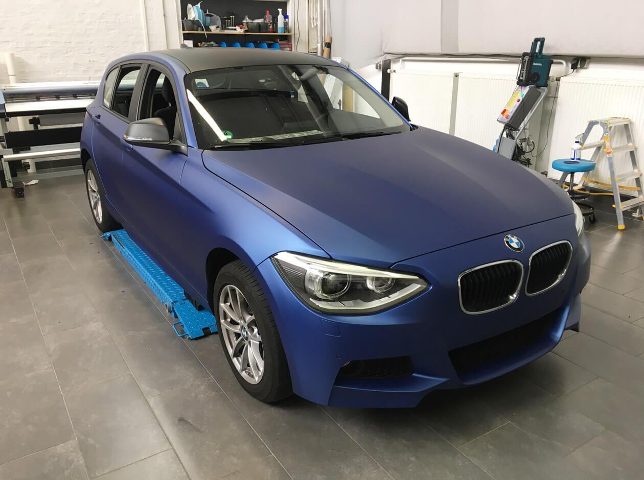 BMW 1er Autofolierung