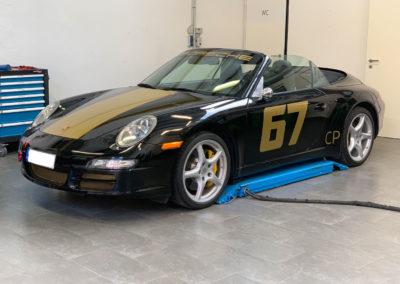 Porsche-Teilfolierung